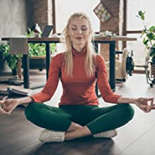 Woman doing some meditation