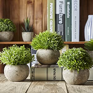 Jobary Artificial Potted Plants - 3 Sets