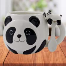 panda japanese cute mug coffee tea anime square container