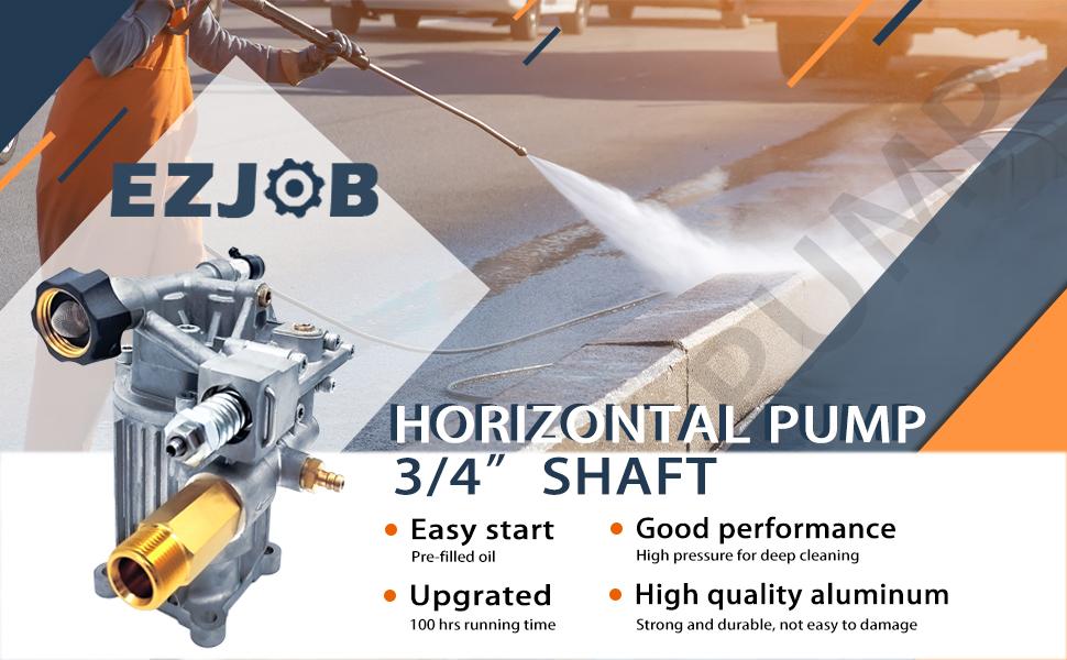 horizontal high pressure pump