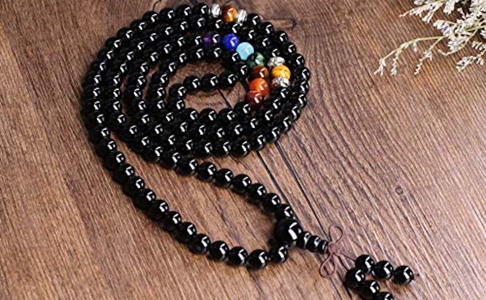 mala 108 perle 7 chakra
