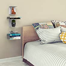 APPUCOCO Book Shelf Wall Mounted Heavy Duty Metal Invisible Book Shelves Floating