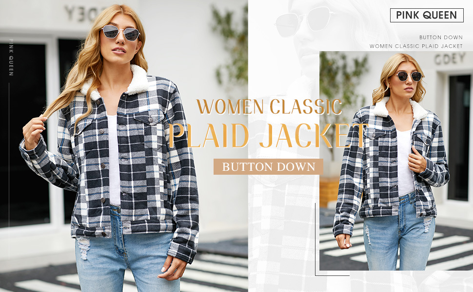 Pink Queen Womens Plaid Cost