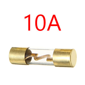 ESUPPORT 5 X 100A AGU Fuse 10X38mm Car Audio Power Safety Protect Glass Tube Gold Plated Radio Refit AMP Amplifier