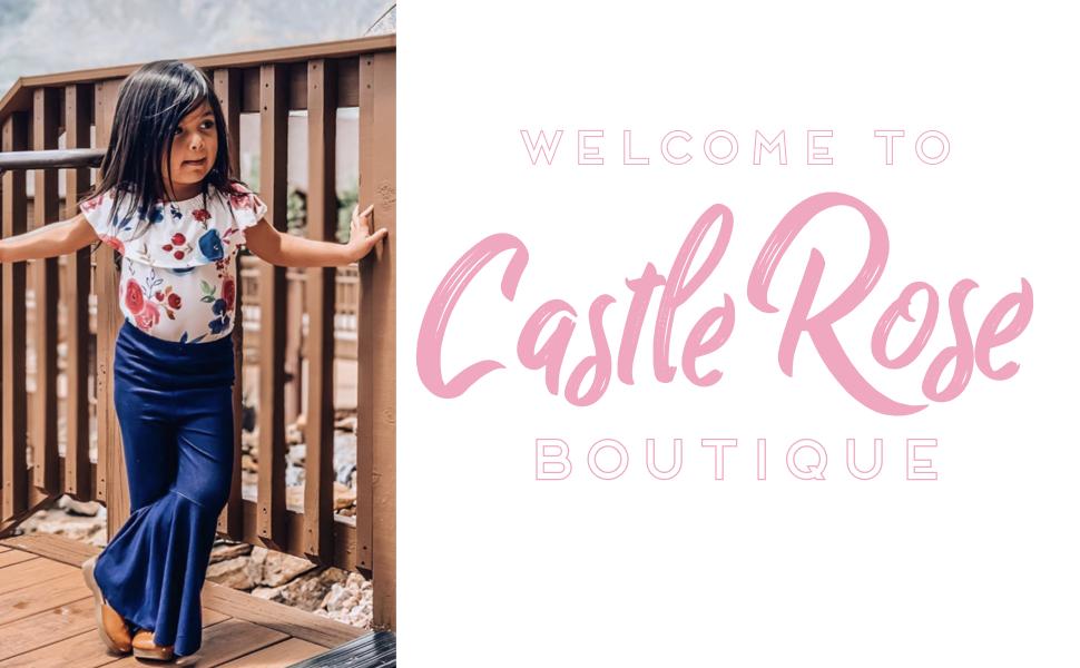 Castle Rose Boutique Soft Denim Bell Bottoms Light Blue
