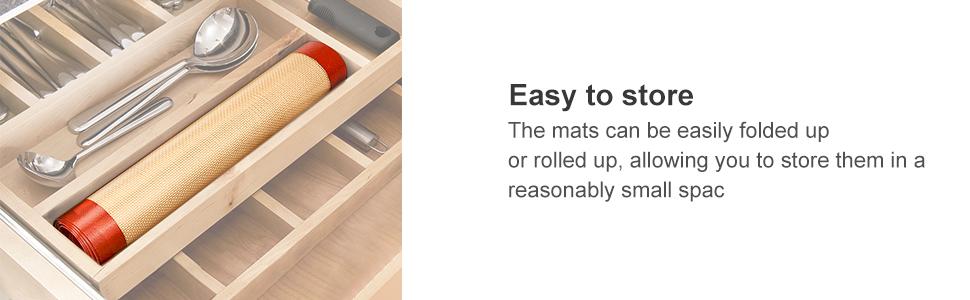 Tapis de cuisson en silicone.