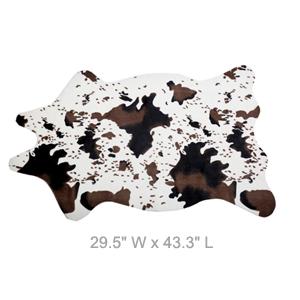 Cute mini faux cowhide rug