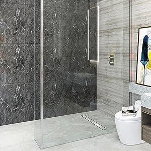 canal canaleta de ducha drenaje 150 acero inoxidable baño sifón tope de olor 2 en1 acero inoxidable