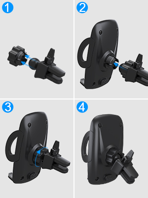 Easy to install car phone holder. No tools needed, you can install the car holder just few minutes.