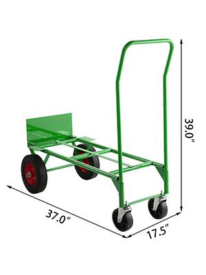 Bestequip Trucks 300 Lb Capacity Steel Convertible Hand Truck Dual Purpose 2 Wheel Dolly And 4 Wheel Cart With 8 Flat Free Solid Rubber Wheels Green With Free Elastic Ropes Talkingbread Co Il