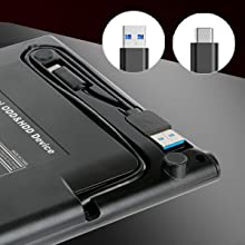 ROOFULL portable external CD DVD RW drive player USB 3.0 and USB type-c connector