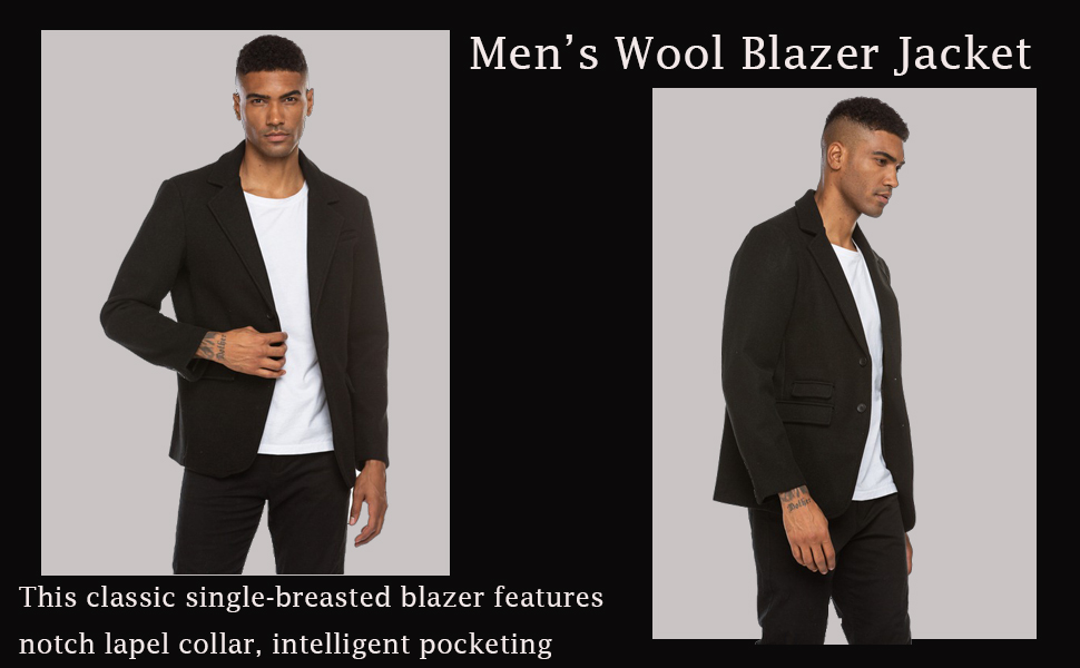 Men's Slim Fit Tweed Blazer Jacket