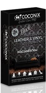 Black Leather and Vinyl Repair Kit