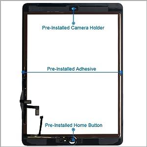 MMOBIEL Digitalizador Compatible con iPad Air 9.7 Plg. 2013 (Negro ...
