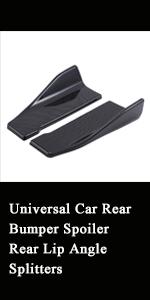 Carbon Fiber Rear Lip Angle Splitter Diffuser Bumper Spoiler Winglet Wings Anti-Crash Modified