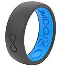 Groove Life Silicone Wedding Rings Solid Original Deep Stone Grey