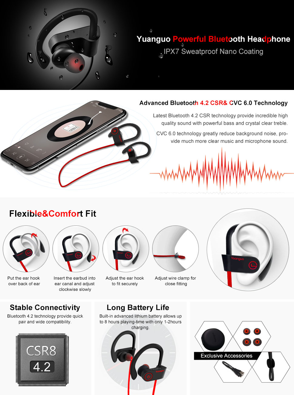 HolyHigh A3S Premium ANC Bluetooth Man with Headphone Sunset