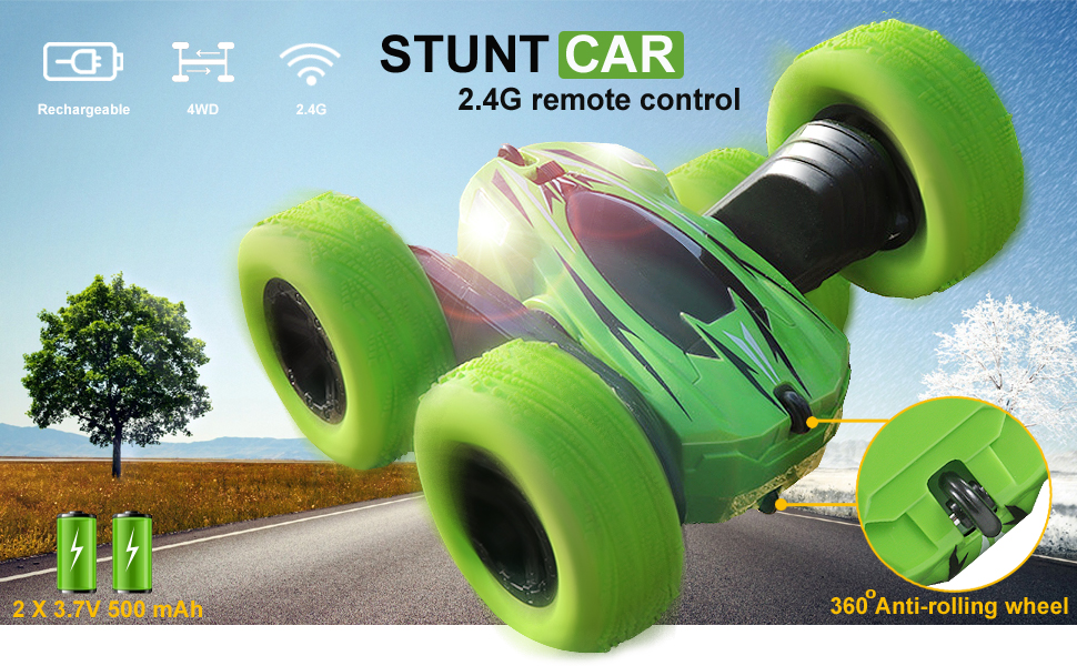 Stunt car Green Xmax Gifts for boys