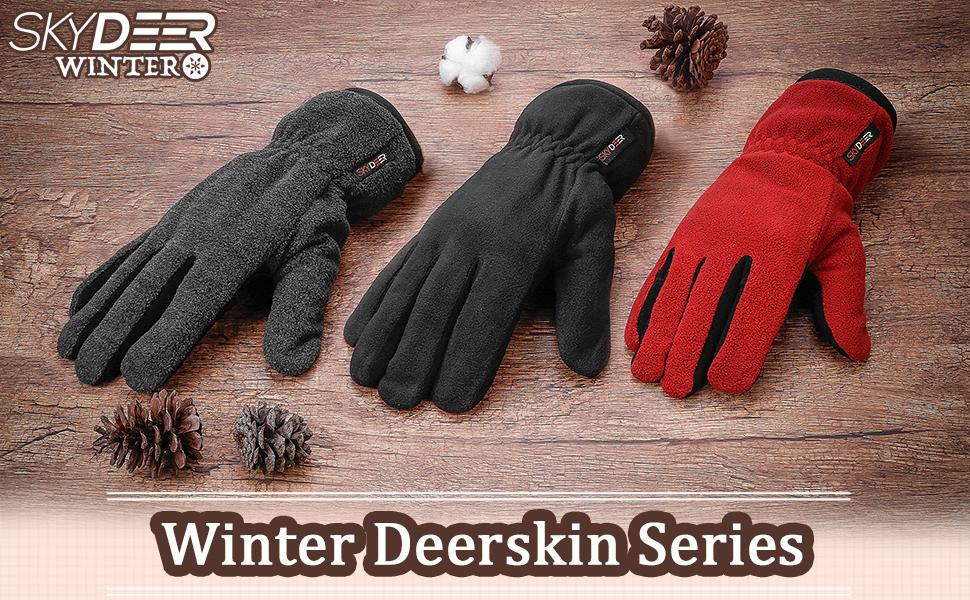 skydeer deerskin winter gloves
