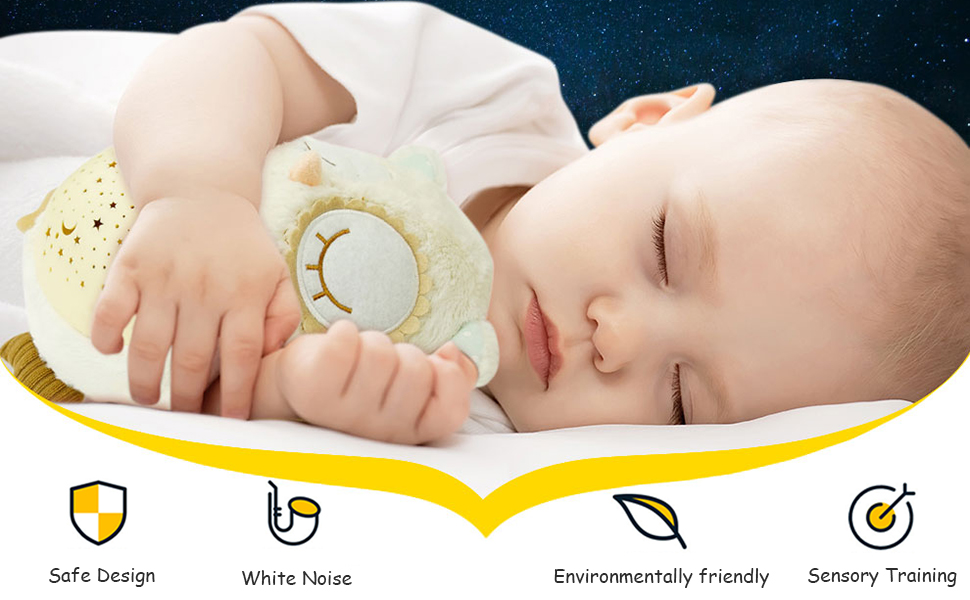 baby sleeping soother sound machine projector sleep aid sleep machine night light baby shower gifts