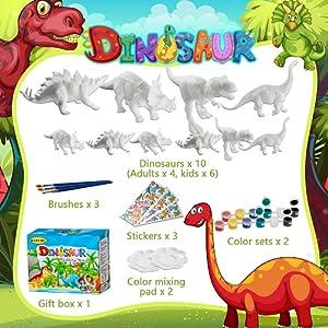 dinosaur painting kits for kids