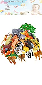 farm animals for toddlers wild kratts toys figurines safari party supplies planet kids zoo jungle