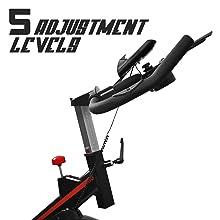 spin bike professionale ergonomica e regolabile per allenamento spinning e cardio
