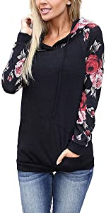women floral hoodies for women sweatshirts for women shirts tops for women pullover sweatshirt