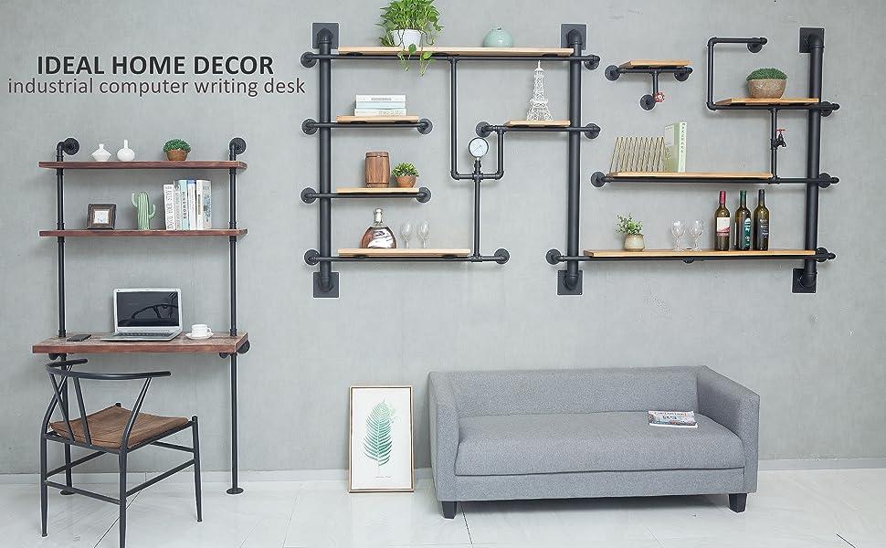 industrial ladder wall desk