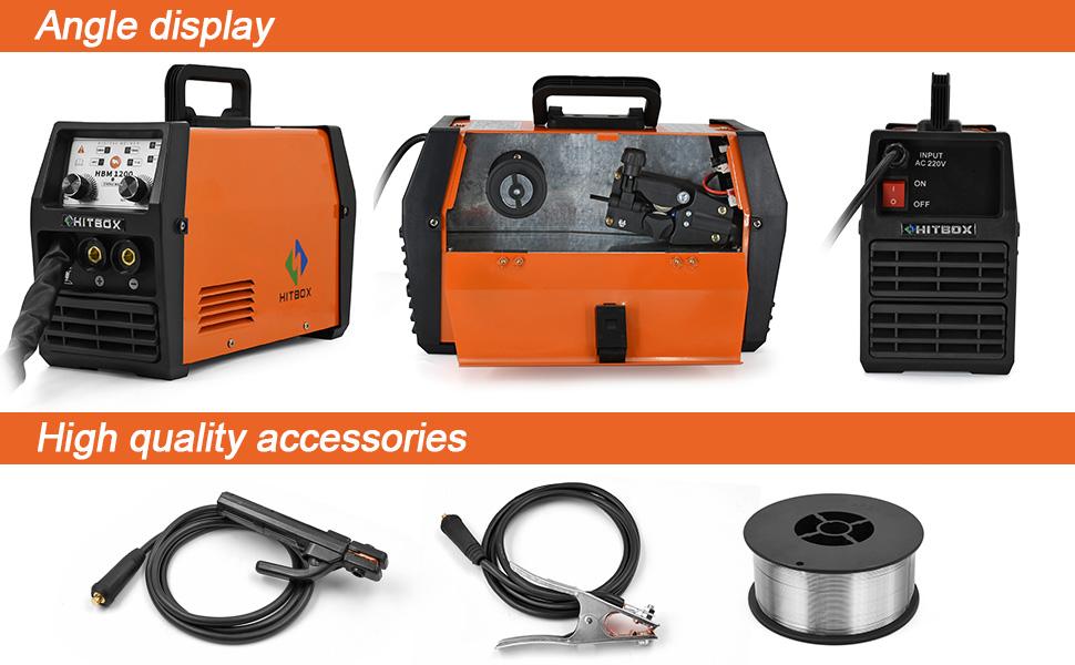 HITBOX MIG 120AMP 110//220V Dual Volt Welder IGBT MIG Inverter Welding Machine