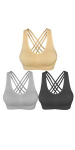 Straps racerback bras