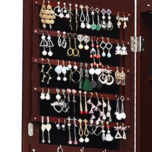 5 Lined Shelves for Earrings