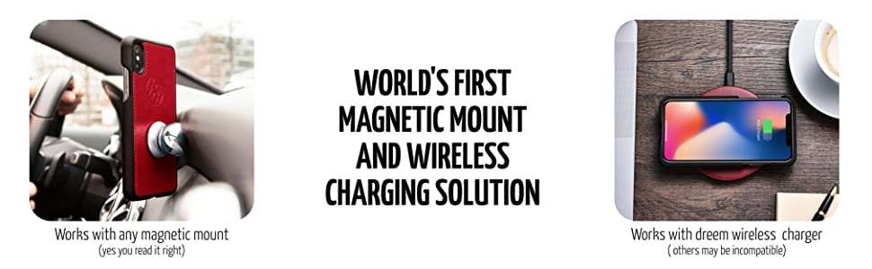magnetic mount wireless charging