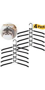5 en 1 Armario Antideslizante de m/últiples Capas Ropa Rack Ropa de Ahorro de Espacio de Metal Ropa para Adultos Rack VANDA Perchas para la Ropa
