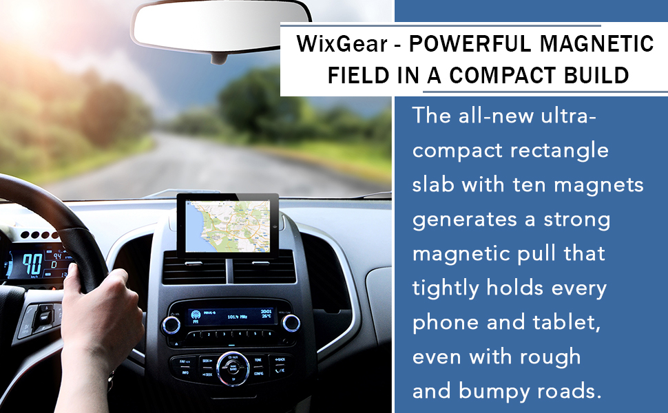 Rectangle Flat Stick Dashboard Magnetic Mount