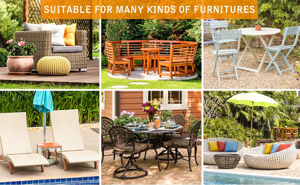 Per esterni giardino mobili da esterno impermeabile copertura resistente ai raggi UV Set 125cm x 70cm