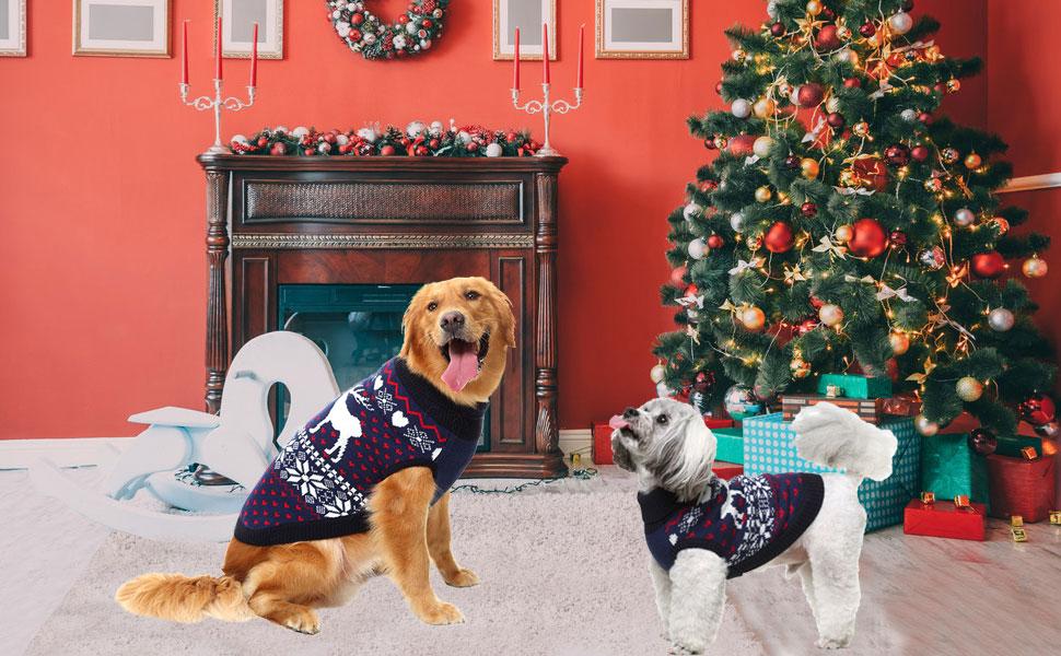 Xmas Dog Collar Funky Pet Supply Gift Handmade Christmas Tree