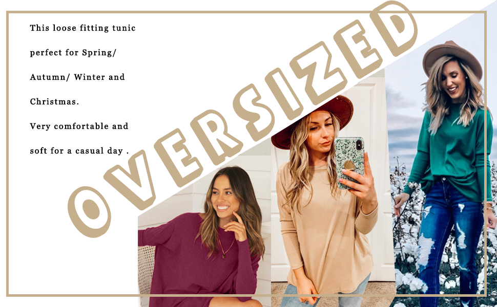 Fall Off Shoulder Pullover Tops for Women to Wear with Leggings