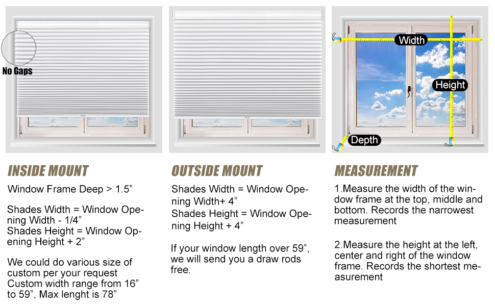 honeycomb shades and blinds