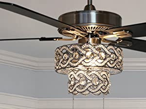 River of Goods Crystal Ceiling Fan