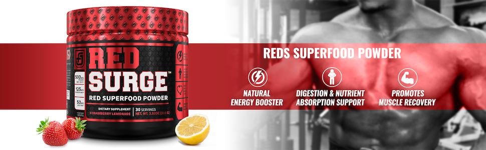 Redsurge Reds Superfood Powder - Strawberry Lemonade