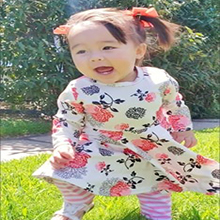 Toddler Girls Outfit for Winter Floral Flower Dress For Summer Holiday