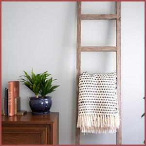 Barnwood Ladder Decor