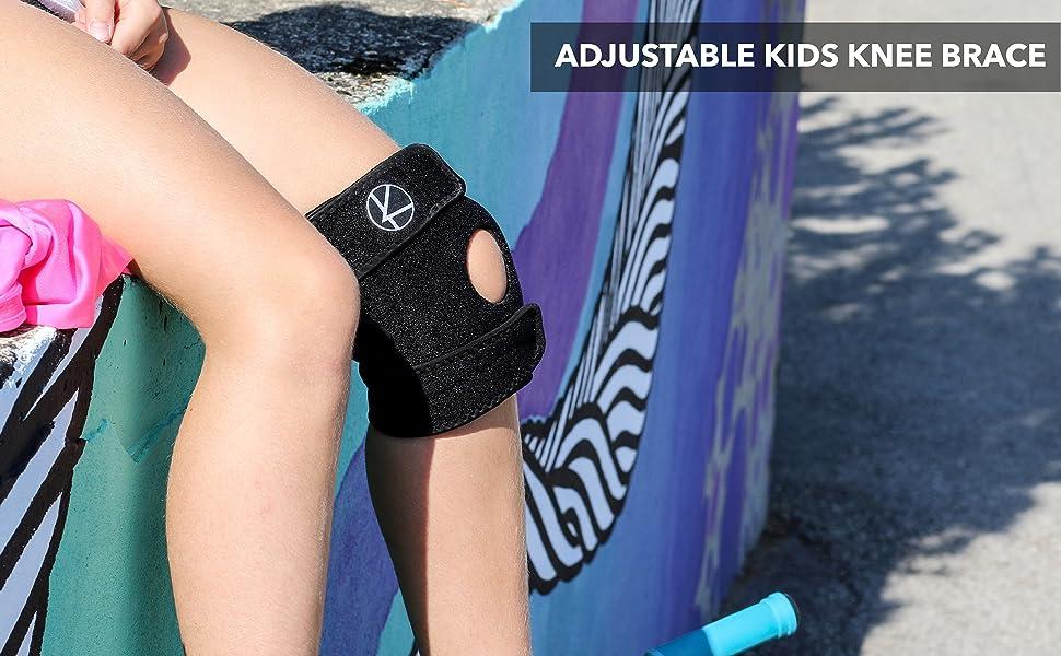 KARM Kids Adjustable Knee Brace Girls Boys Kids Children Dancing Sports Workout Sport Football