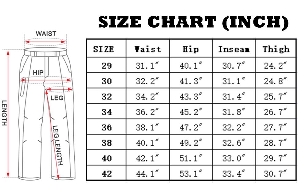 Men's Hiking Pants Lightweight Outdoor UPF 40 Quick Dry Fishing Safari Cargo Pants