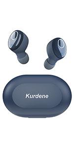 royal blue wireless earbuds