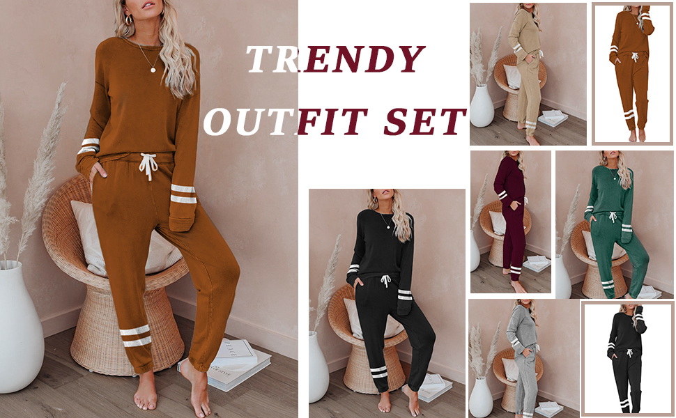 sweat suits for women set