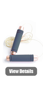 adjustable jump rope, black