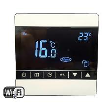 Nassboards Premium Pro Elektrischer Fu/ßbode Heizset Fu/ßbodenheizung 200w18m2 Wei/ßer Smart Thermostat Wifi
