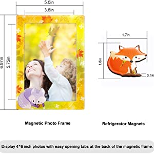 Magnetic Photo Frames for Refrigerator 4x6 - Photo Magnets